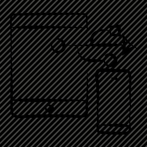 data transfer, hand drawn, mobile, mobile data, usb icon