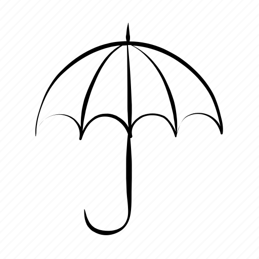 hand drawn, protection, safe, security, umbrella icon