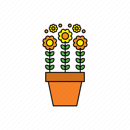 decor, flora, flower, houseplant, nature, plant, pot icon