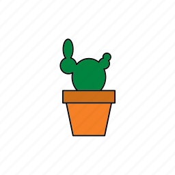 cactus, decor, flora, houseplant, nature, plant, pot icon