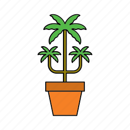 decor, flora, home, houseplant, nature, palm tree, plant icon