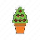 decor, flora, flower, houseplant, nature, plant, pot icon