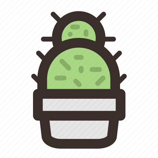 cactus, interior, plant, pot, prickly, throns icon