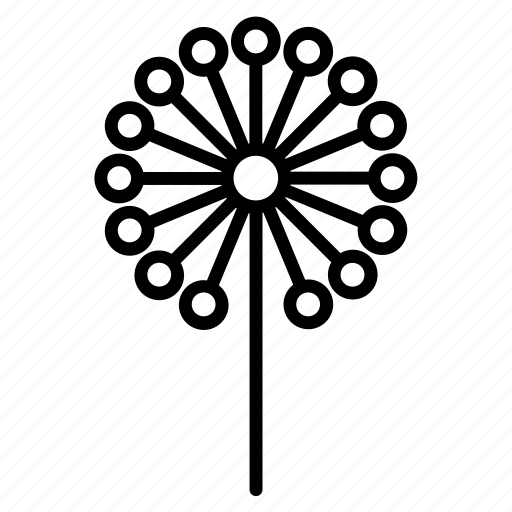 abstract, dandelion, flora, flower, nature, tree, wind icon