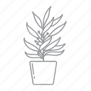 flower, leaf, nature, plant, pot icon