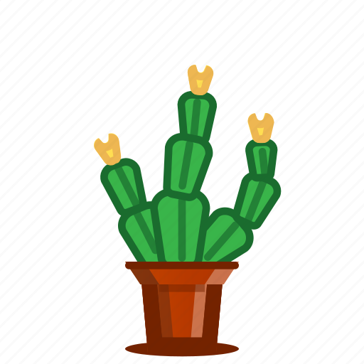 cacti, cactus, flowering, plants, potted plant, succulent, trees icon
