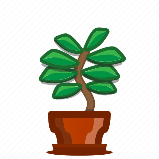 bonsai, plants, potted plant, succulent, trees icon