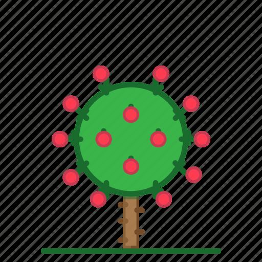 bush, flowering, plants, rose bush, succulent, trees icon
