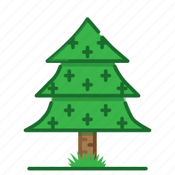 pine, plants, succulent, trees, wood, woodland icon