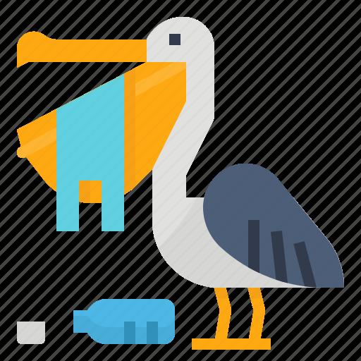 bag, eat, pelican, plastic icon