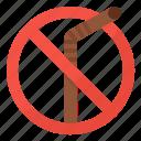 ban, no, plastic, straw icon