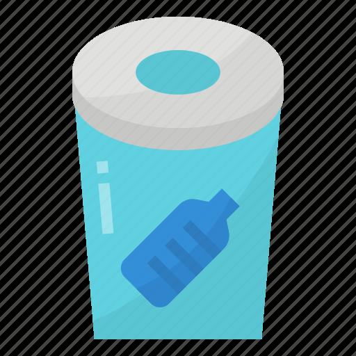 bin, plastic, recycle, reusable icon