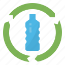 bottle, eco, plastic, recycle icon