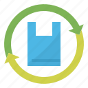 bag, plastic, recycling, reuse icon