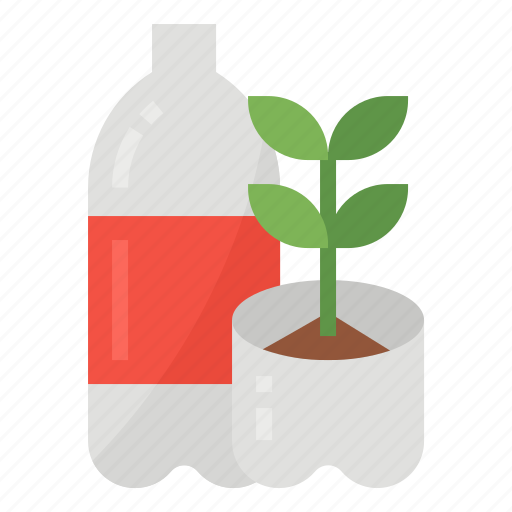 bottle, plastic, recycling, reuse icon