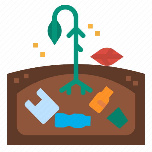Bag, degrade, earth, indigestible, plastic icon - Download on Iconfinder