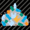 garbage, mountain, pollution, plastic, waste