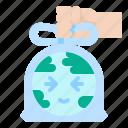 bag, earth, plastic, pollution, world