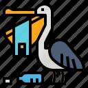 bag, eat, pelican, plastic