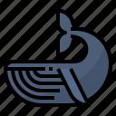 mammals, marine, ocean, whale icon