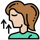 aging, lift, neck, removal, skin icon