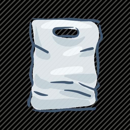 bag, disposable, garbage, plastic, pollution, trash, waste icon