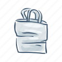 bag, disposable, garbage, plastic, pollution, trash, waste icon