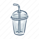 cup, disposable, drink, plastic, pollution, trash, waste icon