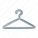 cloth, disposable, hanger, plastic, pollution, trash, waste icon