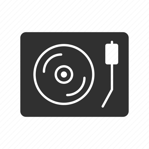 audio player, cd, record player, vinyl record icon