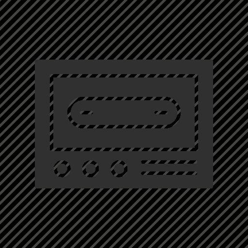 analog, cassette tape, music, recording icon