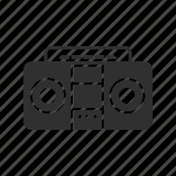 audio cassette, music player, radio, speaker icon