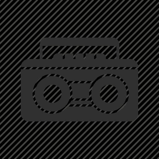 music, music player, radio, tape player icon