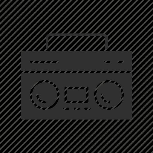 audio cassette, cassette, radio, speaker icon