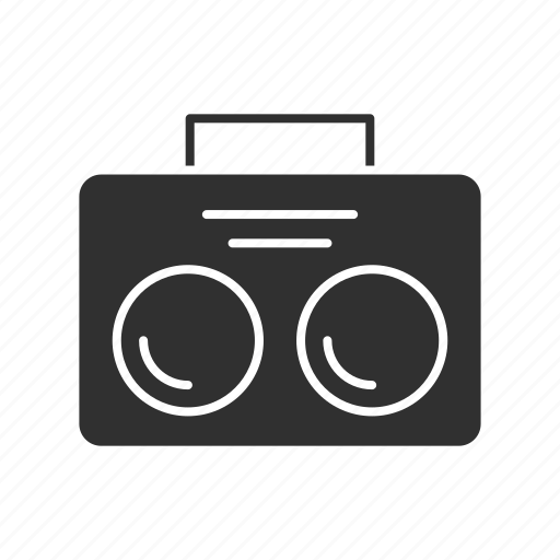 radio, speaker, stereo, tape player icon