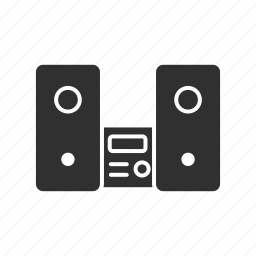 audio casette, audio player, sound system, speaker icon