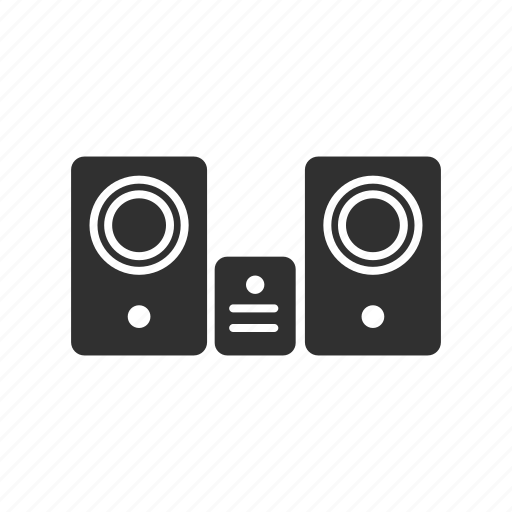 audio player, cassette, sound system, speakers icon