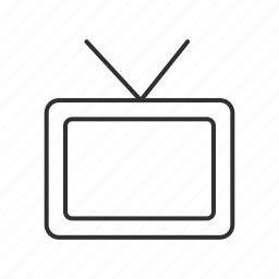 analog tv, broadcast, set box, television, television set, tv, tv ears icon