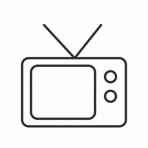 analog tv, set box, television, television set, tv, tv ears, video waves icon