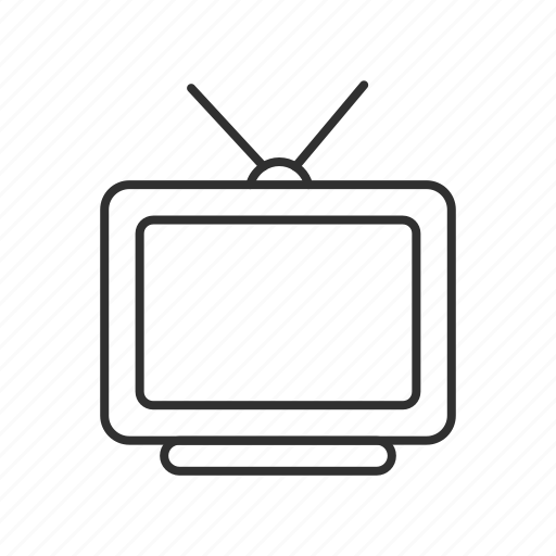 analog tv, boob tube, set box, television, television set, tv, tv ears icon