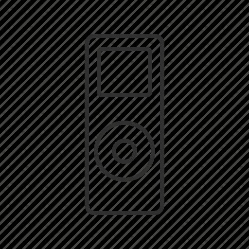 audio player, ipod, ipod mini, ipod nano, mp3 player, music player, nano icon