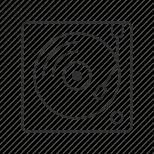 dj, gramophone, music player, phonograph, record, record player, vinyl icon