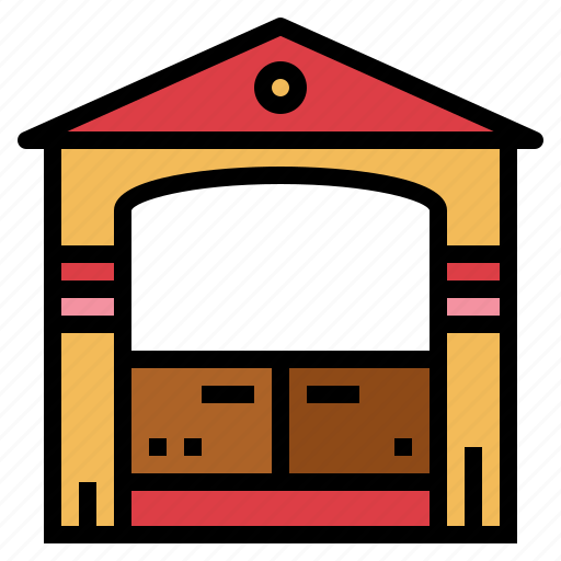 amusement, carnival, chairs, house, park icon