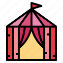 forest, holidays, tent, travel icon