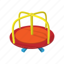 cartoon, merry-go-round, park, play, playground, ride, round icon