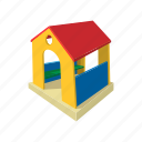 bright, build, cartoon, equipment, house, playground, toy icon