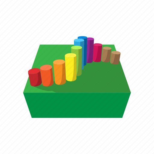 cartoon, colored bars, course, fun, obstacle, outdoor, playground icon