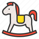 outdoors, play, playground, playground equipment, rocking horse icon