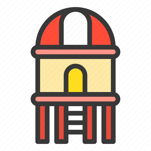 Outdoors, play, playground, playground equipment, playground house icon - Download on Iconfinder