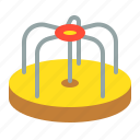 merry-go-round, outdoors, play, playground, playground equipment, roundabout icon